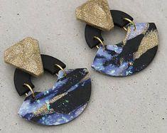 Cleopatra Dangle - Galaxy / Dangles / Polymer Clay Earrings / Stud Earrings