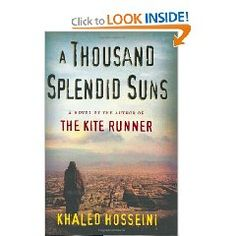 By the author of the kite runner. A pretty serious book, but makes you think about the lives of women throughout the world.