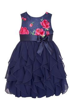Another great find on Navy & Pink Rose Ruffle Tier Dress - Infant, Toddler & Girls by American Princess Toddler Girl Dresses, Toddler Outfits, Kids Outfits, Toddler Girls, Baby Girls, Little Girl Fashion, Toddler Fashion, Kids Fashion, Little Girl Dresses
