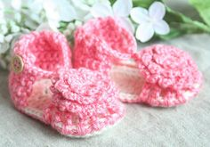 Crochet Baby Sandals  Baby Booties  Summer Baby by BabyBLoved, $18.00