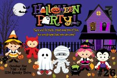 Childrens Halloween Costume Party Invitation by LetsPartyShoppe, $8.95