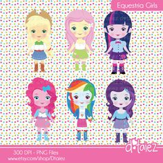 Equestria Girls cute clipart my little ponny printable by Dtaiez