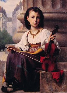 TICMUSart: The Young Musician - Francois Alfred Delobbe (1876) (I.M.)