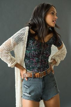 Sparkle & Fade Ruched Zip Off-The-Shoulder Top #urbanoutfitters