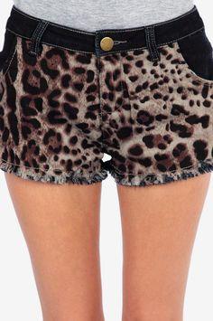 Fully Frontal Leopard Shorts - Tobi