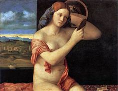 Giovanni Bellini - Naked Young Woman in Front of the Mirror, 1515