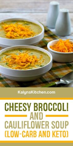 Best Low Carb Recipes, Best Soup Recipes, Best Gluten Free Recipes, Chili Recipes, Keto Recipes, Dinner Recipes, Favorite Recipes, Broccoli Cauliflower Soup, Beach Meals