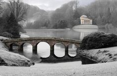 Stourhead Gardens Wiltshire in South West England Places Ive Been, Places To Visit, Winter Scenes, Winter Garden, Photos, Pictures, White Photography, Countryside, Britain