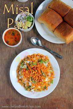 THE CHEF and HER KITCHEN: Misal Pav Recipe | Maharasthrian Misal Pav