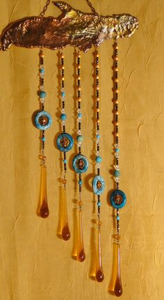 Sun Catcher Hand Crafted using Vintage Crystals by dantiquenutt, $55.00