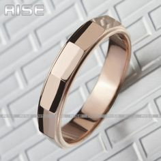 WOMENS TUNGSTEN WEDDING BAND ROSE GOLD PLATED NEW | eBay $16