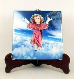 Divino Niño de Bogotá - Divine Child Jesus - New catholic icon on tile https://www.etsy.com/listing/451742582 by TerryTiles2014
