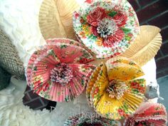 Cupcake Liner Flowers   and i thought cupcake liner flowers would team up nicely