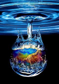 Blue water drop....  #photography