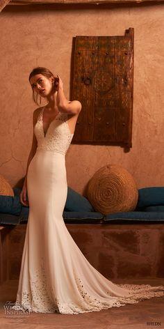 bhldn spring 2017 bridal sleeveless deep v neck heavily emebellished bodice elegant romantic fit and flare wedding dress keyhole back chapel train (cruz) mv