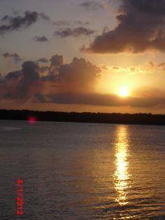 Por do sol em João Pessoa ( Rio do Jacaré) Paraíba