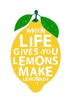 When life gives you lemons | Motivation | Echte Postkarten online versenden…
