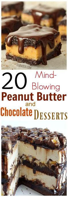 20 Mind-Blowing Peanut Butter and Chocolate Desserts that you need to make!