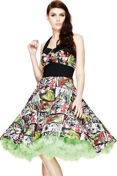 B-Movie Rockabilly Swing Dress by Hell Bunny   Dresses