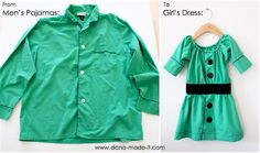 TUTORIAL: The Shirt Dress | MADE - From Daddy's shirt to her little dress!