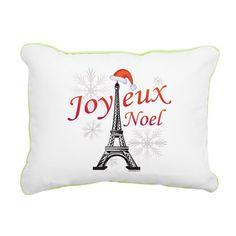 Joyeux Noel Rectangular Canvas Pillow