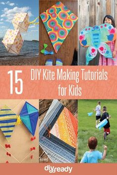15 DIY Kite Making Instruction for Kids! See them all at DIY Projects Kites For Kids, Diy For Kids, Crafts For Kids, Kids Fun, Diy Craft Projects, Fun Crafts, Craft Ideas, Homemade Kites, Kites Craft