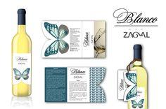 Vino Blanco Rey Zagal. Proyecto consistente en elaborar marca y packaging parar para este vino de elaboración ecológica.