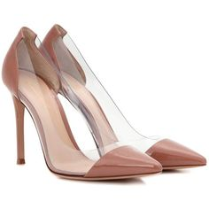 Gianvito Rossi Plexi Patent Leather and Transparent Pumps (21 735 UAH) ❤ liked on Polyvore featuring shoes, pumps, heels, neutrals, lucite pumps, perspex shoes, nude patent shoes, patent pumps and patent shoes
