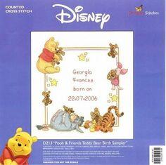 Pooh birth sampler.....Solo Patrones Punto Cruz (pág. 155) | Aprender manualidades es facilisimo.com