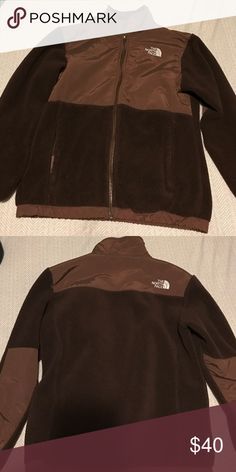 Girls North face jacket! Brown north face jacket in girls size large! In like new condition! North Face Shirts & Tops Sweatshirts & Hoodies