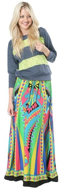 Bohemian Maxi Skirt from Flying Tomato