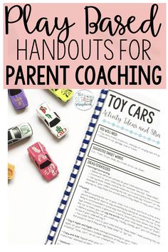 Play-Based Handouts for Parent Coaching - Early Intervention Therapy Handouts - - Preschool Speech Therapy, Speech Activities, Speech Therapy Activities, Speech Language Pathology, Speech And Language, Articulation Activities, Toddler Speech, Parent Coaching, Early Intervention