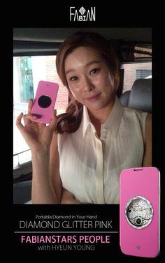 FABIANSTARS PEOPLE with HYEUN YOUNG  Diamond Glitter Round Pink