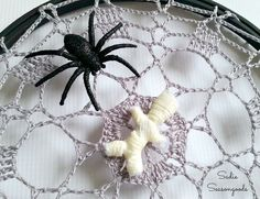 Halloween Spiderweb Project...from Grandma's Attic!