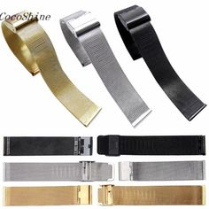 CocoShine A-912  Fashion Leisure Milanese Stainless Steel 18mm/20mm/22mm/24mm Wrist Watch Band Strap wholesale wholesale #Affiliate