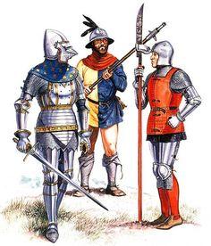 Lombard knight, late 14th century • North Italian handgunner, late 14th century.