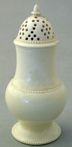 Creamware; Sugar Shaker, Acorn Finial, 1800's.