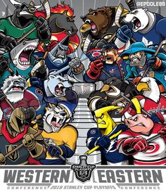 With the Jackets clinching the final spot on Friday, artist created this cartoon to graphically depict the Stanley Cup Playoffs 🏆… Hockey Room, Hockey Teams, Hockey Players, Ice Hockey, Hockey Stuff, Bruins Hockey, Hockey Puck, Stanley Cup Playoffs, Stanley Cup Finals