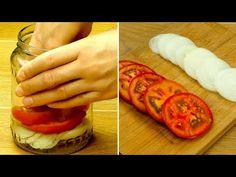 (152) Připravte nezapomenutelná nakládaná rajčat s cibulí! | Chutný TV - YouTube Canning Pickles, Lidl, Healthy Snacks, Ethnic Recipes, Food, Gastronomia, Recipes, Salad Toppings, Healthy Snack Foods