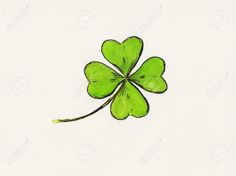 Illustration about A watercolor painting of a four-leaved clover. A symbol for luck and St. Illustration of vibrant, aquarell, holiday - 28469821 Four Leaf Clover Drawing, Four Leaf Clover Tattoo, Clover Tattoos, Leaf Tattoos, Mini Tattoos, Small Tattoos, Clover Painting, Watercolor Painting, Shamrock Tattoos