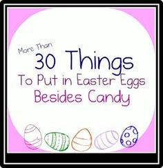 Fill Easter eggs with things other than candy http://bit.ly/HqvJnA