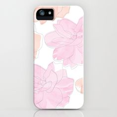 Gardenia iPhone Case in pink and salmon