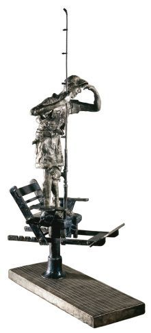 """""""Where is The Tuna?"""", #bronze #sculpture by #artist Cedric Loth at #Gallery Saint-Dizier"""