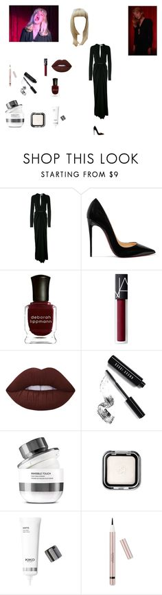 """Laura Palmer doppelganger"" by effyswanhaze ❤ liked on Polyvore featuring Yves Saint Laurent, Christian Louboutin, Deborah Lippmann, NARS Cosmetics, Lime Crime and Bobbi Brown Cosmetics"