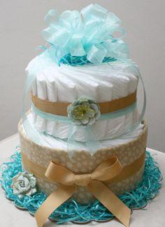 Vintage Elegant Diaper Cake by McKayDiaperCakes on Etsy, $30.00