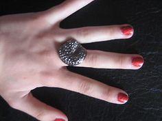 studded metal ring Metal Ring, Precious Metals, Style Inspiration, Rings, Jewelry, Fashion, Moda, Jewlery, Jewerly