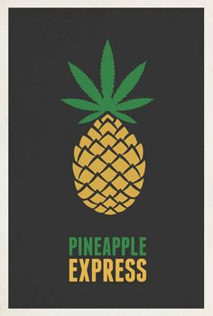 Pineapple Express | 33 Movie Posters That Prove Less Really Is More | Happy 33 weeks!