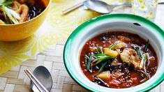 This Korean soup is packed with flavour and has a welcome fiery kick, making it perfect comfort food for cold winter days. Korean Soup Recipes, Spicy Recipes, Asian Recipes, Cooking Recipes, Ethnic Recipes, Sbs Food, Barley Soup, Cook Up A Storm, Learn To Cook