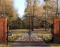 """Similar to our old gate - at the """"Big House"""" - that got plowed down by an out-of-control teenage driver."""