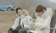Let's go camping with Song Hye-Kyo and Song Joong-Ki! Come check out the Kolon Sport Camping gear and padding jackets from Descendants of the Sun Episode Song Hye Kyo, Song Joong Ki, Seo Dae Young, Decendants Of The Sun, Two Of A Kind, W Two Worlds, Korean Star, Blue Bloods, Kdrama Actors